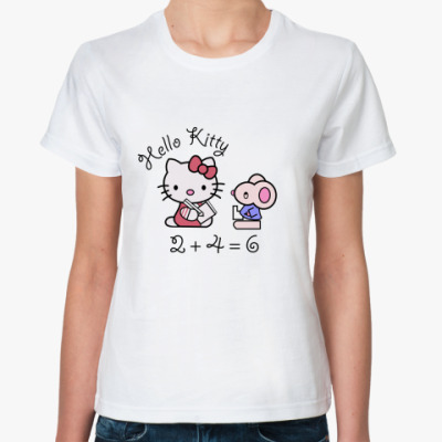 Классическая футболка Китти в школе