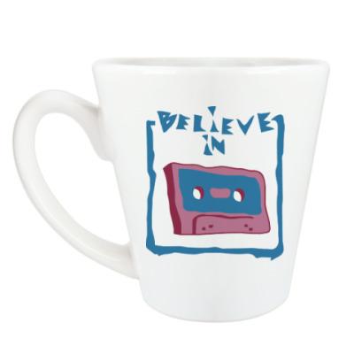 Чашка Латте Верю в кассеты