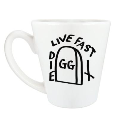 Чашка Латте GG Allin: Live fast die