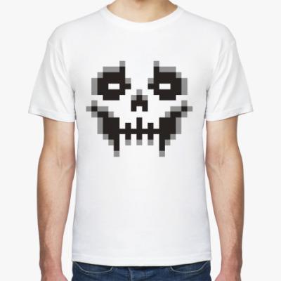 Футболка Пиксельный череп