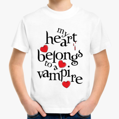 Детская футболка My heart