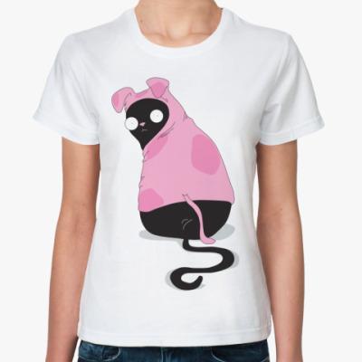 Классическая футболка Кот в костюме