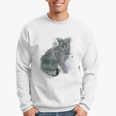 Свитшот Серый сердитый кот