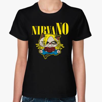Женская футболка Кот (Нирвана)