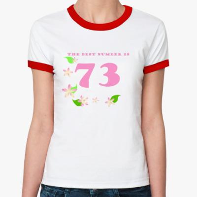 Женская футболка Ringer-T  73