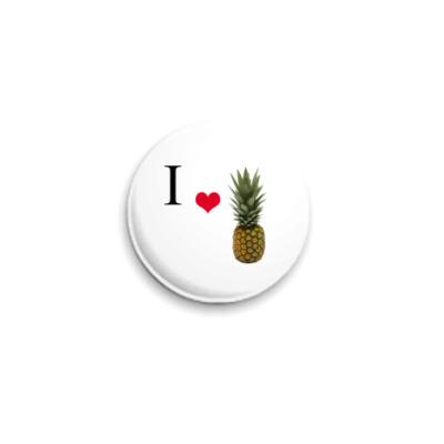 Значок 25мм  25 мм, Pineapple
