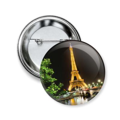 Значок 50мм Париж