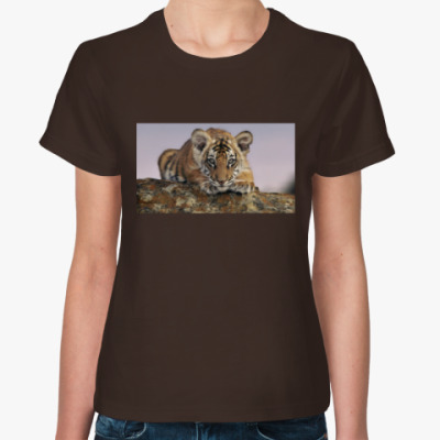 Женская футболка тигренок
