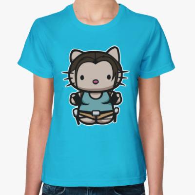 Женская футболка Kitty Лара Крофт