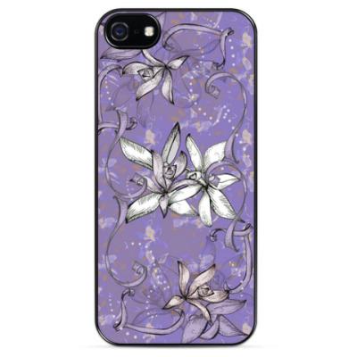 Чехол для iPhone Нежный дизайн с цветками ванили