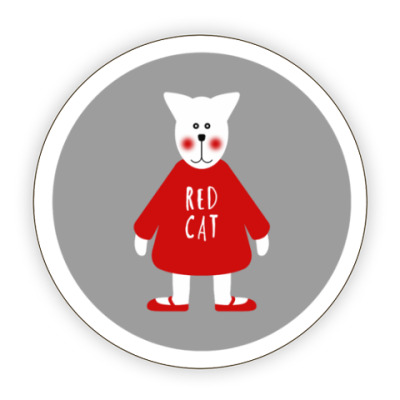Костер (подставка под кружку) Red Cat