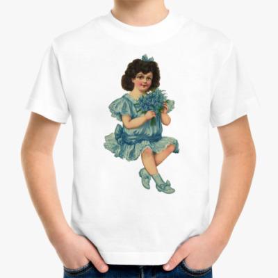 Детская футболка Девочка с букетом