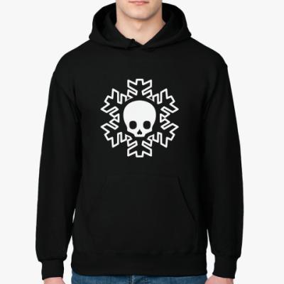 Толстовка худи Cнежинка skull