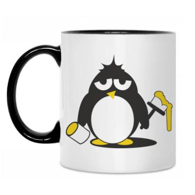 Кружка Пингвин с краской