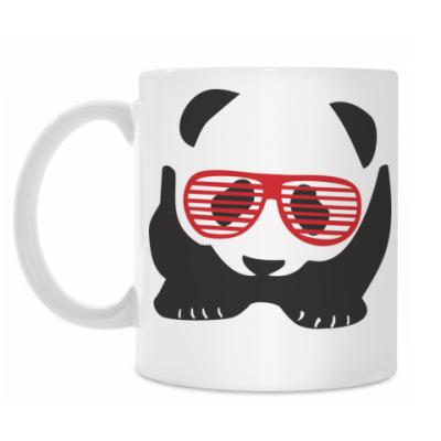 Кружка Панда в очках жалюзи
