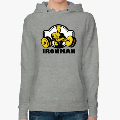 Женская толстовка худи Ironman