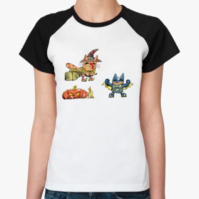 Женская футболка реглан Кошкалавин