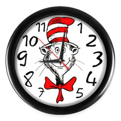 Настенные часы Кот-оптимист