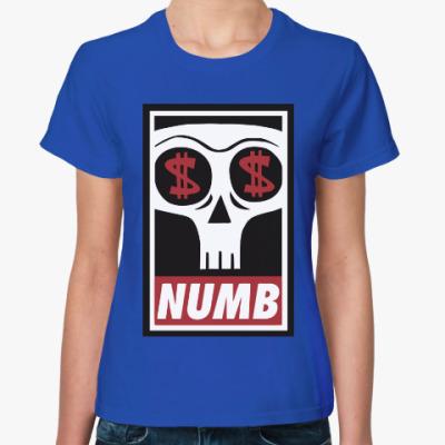 Женская футболка Numb