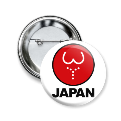 Значок 50мм Японская леди