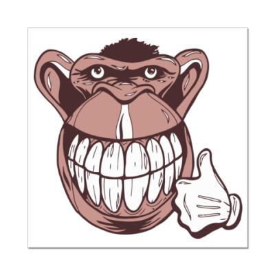 Наклейка (стикер) Веселая обезьяна