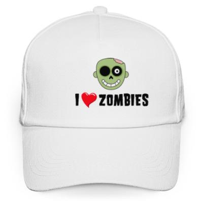 Кепка бейсболка I love zombies