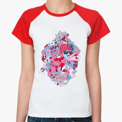 Женская футболка реглан play  Ж()