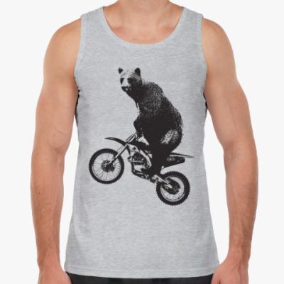 Майка Медведь на мотоцикле