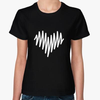 Женская футболка Сердце-разряд