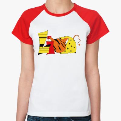 Женская футболка реглан Lion