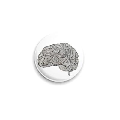 Значок 25мм  «Мозг»