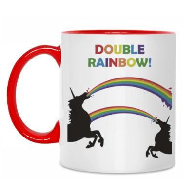 Кружка Двойная радуга