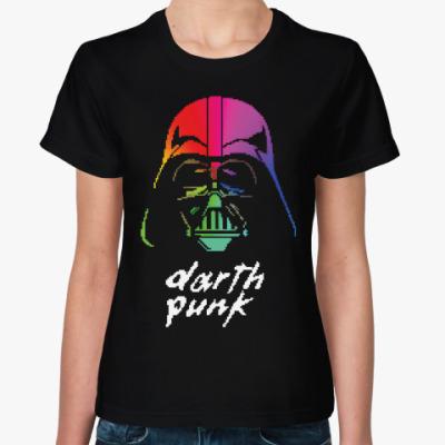Женская футболка Darth Punk ( Pixels 8 bit )