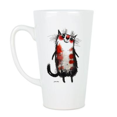 Чашка Латте Кошка Белка