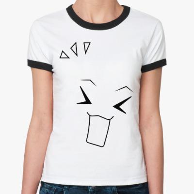 Женская футболка Ringer-T 'Emotions - Delight'
