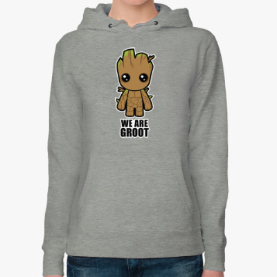Женская толстовка худи We are Groot