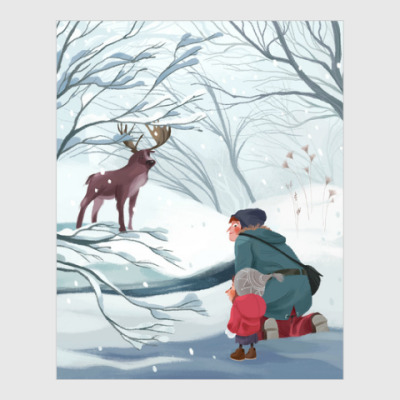 Постер  'В лесу'