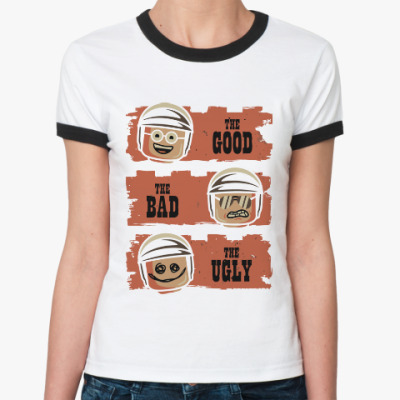 Женская футболка Ringer-T Лего - хороший, плохой, злой
