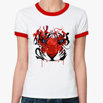 Женская футболка Ringer-T Tiger  Ж ()