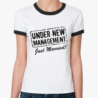 Женская футболка Ringer-T Молодожёны