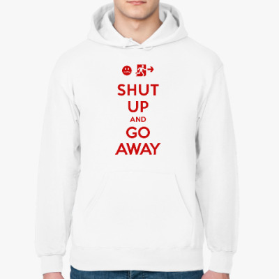 Толстовка худи Shut up and go away