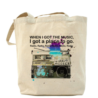 Сумка Холщовая сумка Radio