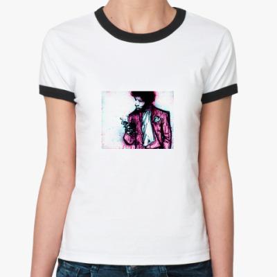 Женская футболка Ringer-T  Jimi Hendrix