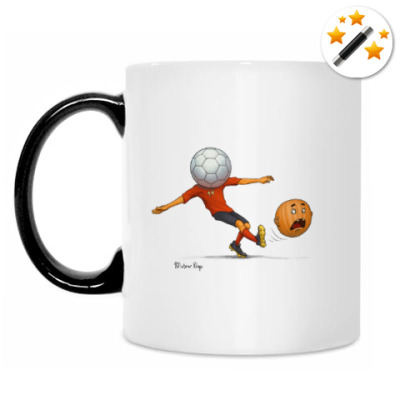 Кружка-хамелеон Тыква Футбол soccer