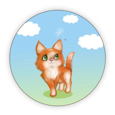 Костер (подставка под кружку) Котёна и одуванчик