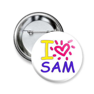 Значок 50мм Supernatural - I love Sam