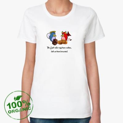 Женская футболка из органик-хлопка Cookies - Brownies