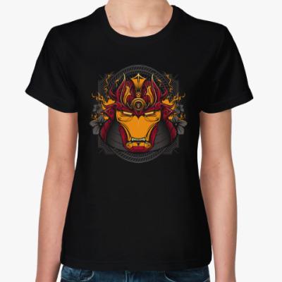 Женская футболка Железный Самурай