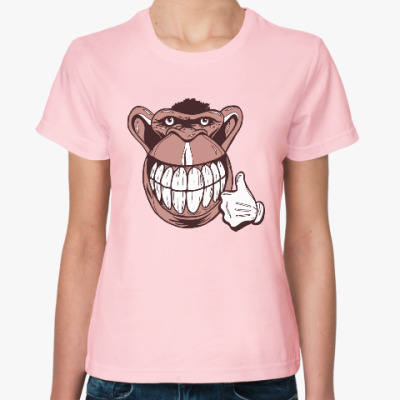 Женская футболка Веселая обезьяна