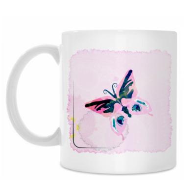 Кружка Бабочка в разводах чая